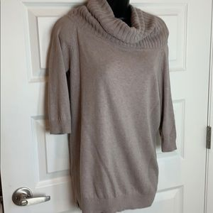 Express Cowl Neck Pullover Beige S Sweater